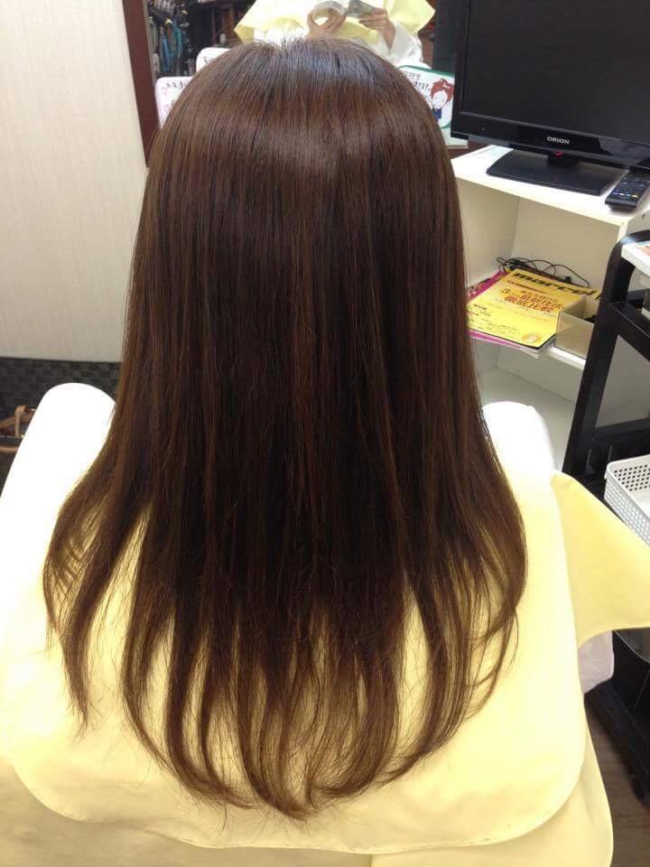 酸性縮毛矯正施術後